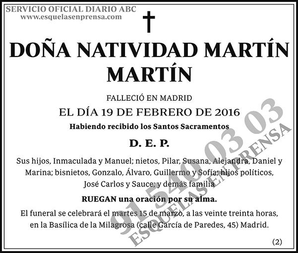 Natividad Martín Martín
